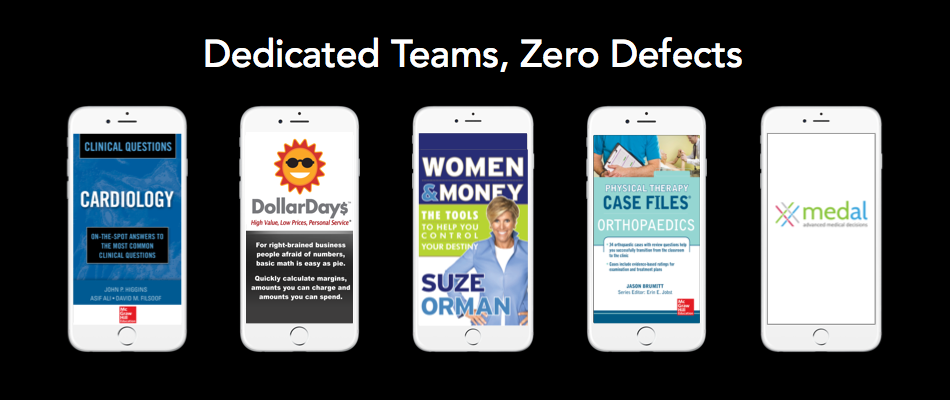 Dedicated Teams, Zero Defects